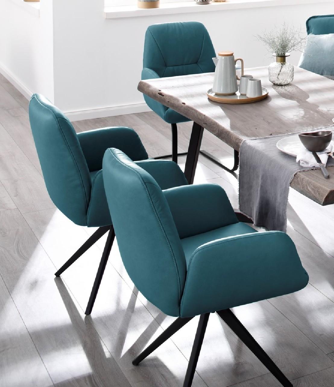 Petits fauteuils cuir par 4 pour table manger ou cuisine Fauteuil de table a manger