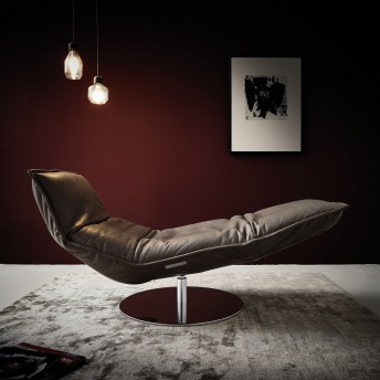 Chaise longue de relaxation LAZY.BOY base ronde pivotante sur batterie