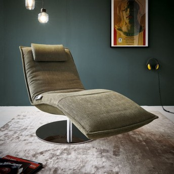 Chaise longue électrique de relaxation massante LAZY.BOY base ronde pivotante