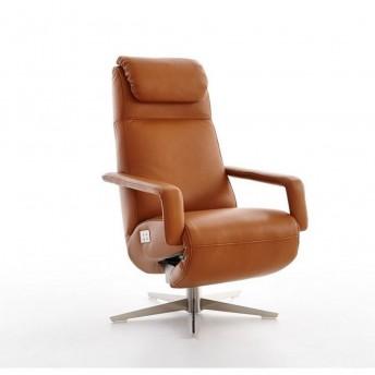 Fauteuil massant RUN pivotant relaxation électrique filaire en cuir