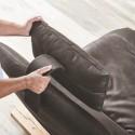 Canapé angle double chaise longue relax motorisée intégrée ANDERSON.DAY.LOUNGE