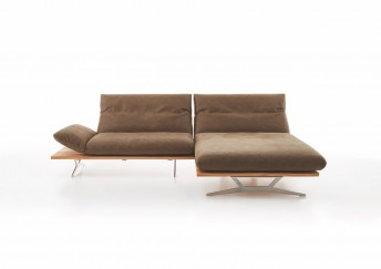 Canapé avec chaise longue mobile HYPEnKEYS design 2 places