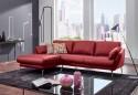 AM.MELVIN, canapé d'angle avec chaise longue, confort souple, cuir ou tissu