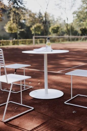 Table ronde bistrot en métal teinte au choix 60 cm SPULKA