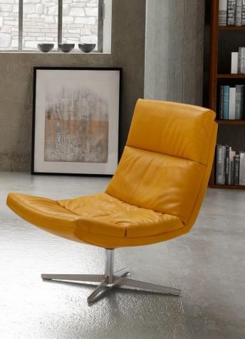 ALLYE.J, fauteuil pivotant design et confort en cuir