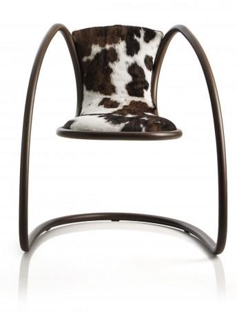 Fauteuil TIMELESS icône LUXY en peau de vache