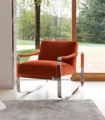 RON4 petit fauteuil design cubique à bascule