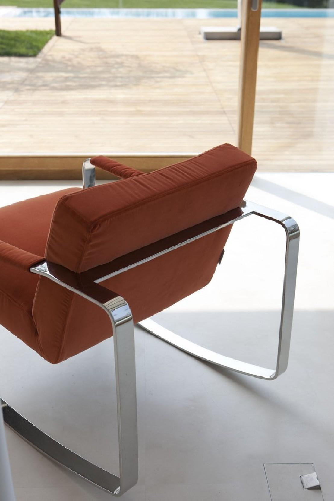 petit fauteuil design m ta cuir bascule cubique ron4. Black Bedroom Furniture Sets. Home Design Ideas