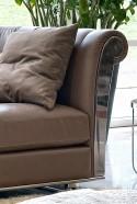 Canapé cuir & plume GRAND.ASTORIA 3 places