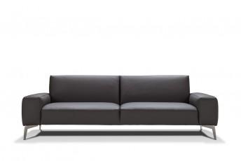 Canapé en cuir 3 places RONNY.T intemporel