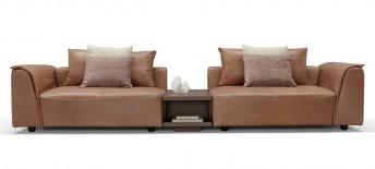 Canapé cuir modulable avec étagère et chargeur de smartphone SUMMER.ODYSSEY