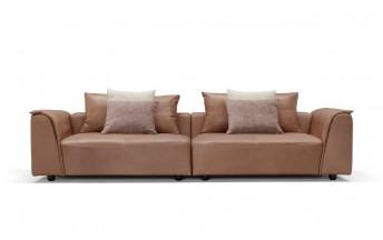 Canapé cuir 4 places en 2 modules SUMMER.ODYSSEY