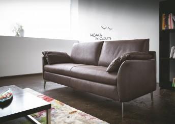 Petit canapé design en cuir ou tissu 2 places MRS.SMITH