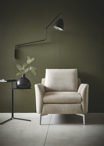 Petit fauteuil design MRS.SMITH cuir ou tissu