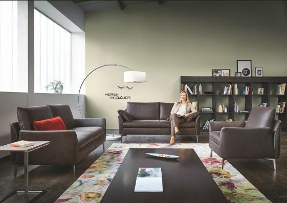 MRS.SMITH, salon complet design contemporain cuir ou tissu