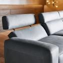 A.PURE.SUBLIMATION, canapé d'angle assises pivotantes & dossiers réglables en cuir