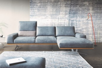 CHARLES.BROWN, canapé design profondeur et dossiers réglables 3 places chaise longue