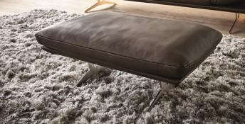 AD.SENSO, pouf rectangulaire 90 cm cuir ou tissu