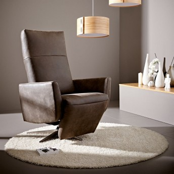 Fauteuil relax STYLAND de relaxation manuelle, cuir ou tissu