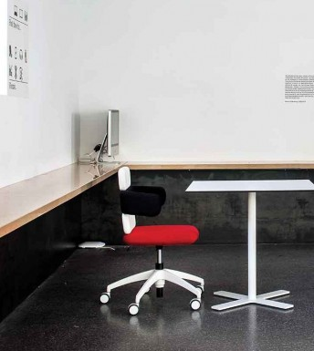 Fauteuil de bureau design CLUSTER hauteur réglable cuir ou tissu