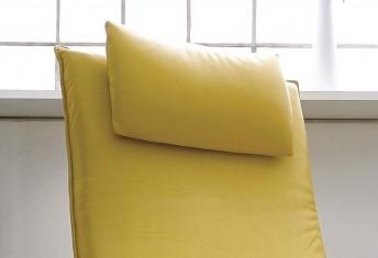 Appui-tête amovible, coussin de nuque LITTLE.KING, cuir ou tissu