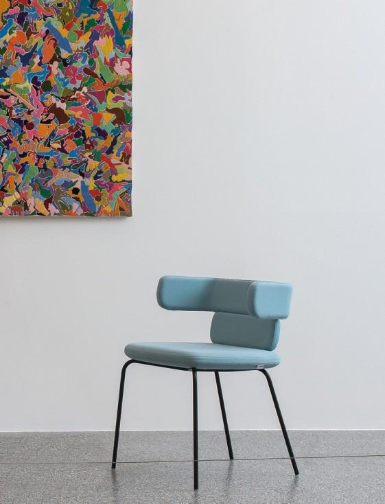CLUSTER lot de 2 chaises dossiers bas 4 pieds