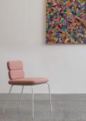 Chaises CLUSTER par 2, 4 pieds 2 éléments cuir pleine fleur ou tissu Kvadrat