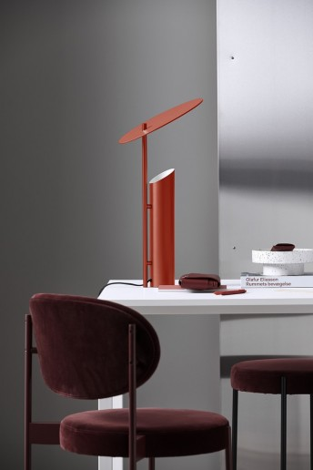 Lampe design REFLECT de table à poser VERPAN rouge