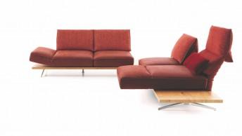 IDOLATION canapé angle 4 places assises pivotantes et relax en cuir ou tissu
