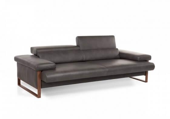Canapé 2,5 places cuir design DREAMLINE assise motorisée