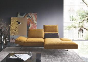 Petit canapé d'angle design pivotant 2 places IDOLATION