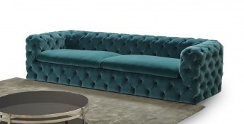 Canapé CHESTERFIELD CHESTER*STAR en velours sublime