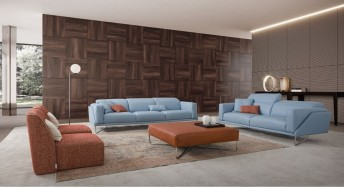 Canapé cuir ultra design JAY.JUNE grand 3 places