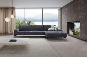 Canapé d'angle cuir, nubuck ou tissu HANNES.B