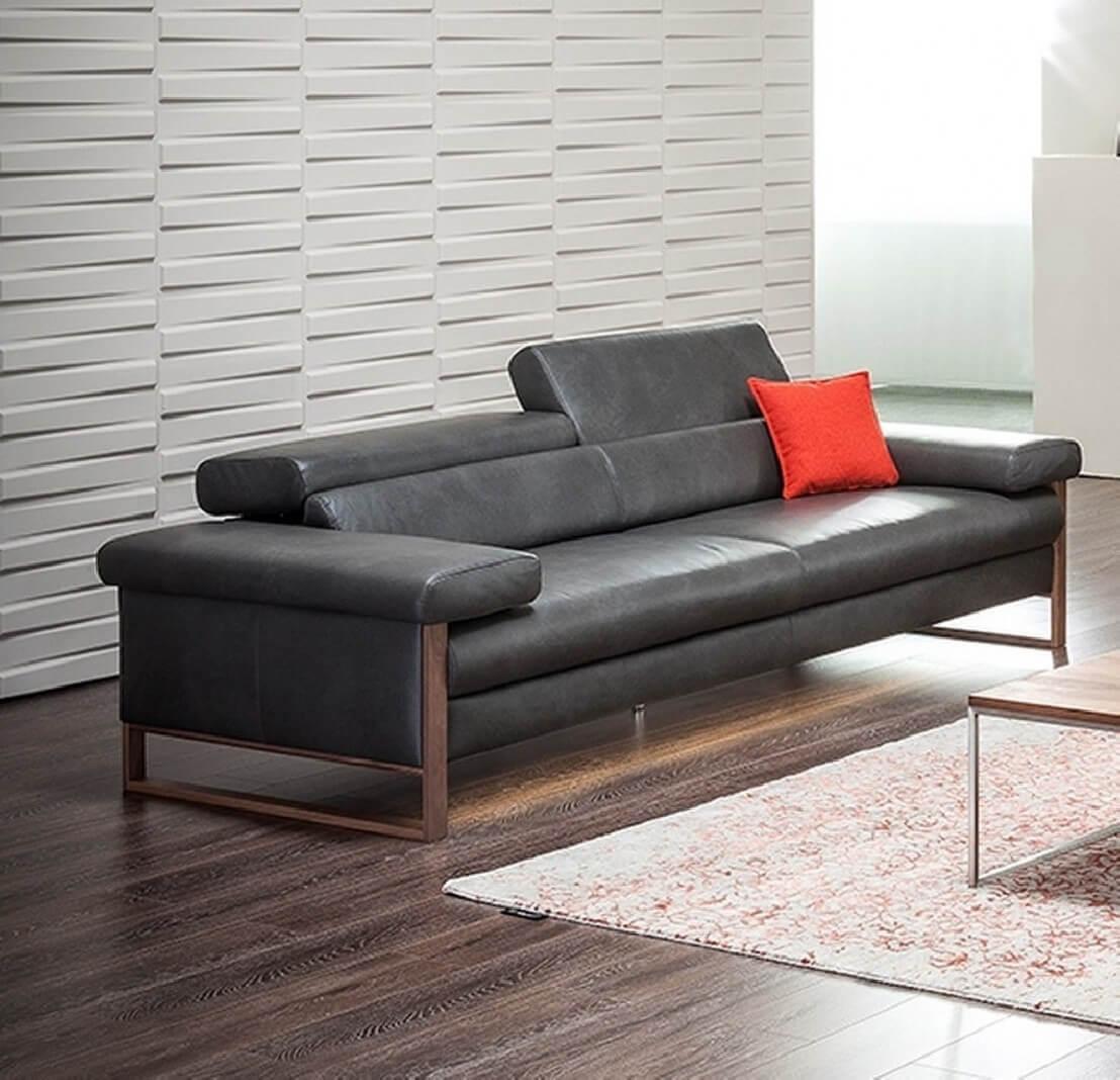 canap cuir design 3 places dreamline assises motoris es. Black Bedroom Furniture Sets. Home Design Ideas