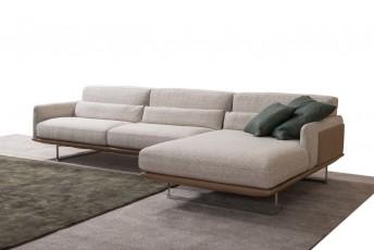 Canapé d'angle cuir ou tissu version chaise longue RALPH.LEWIS