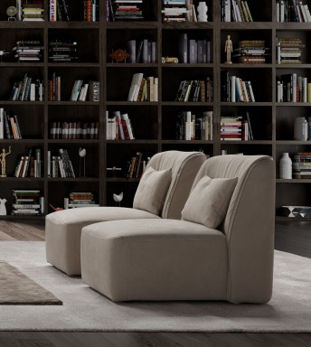 Fauteuil design sans accoudoir HEARTY.B