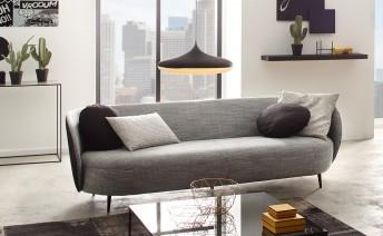 Canapé 4 places GRACELAND, cuir ou tissu ou bi-matières