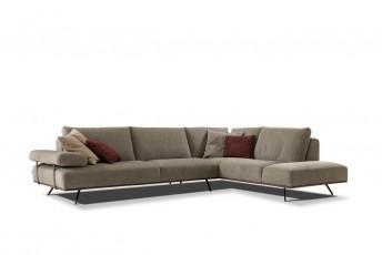Canapé d'angle cuir ou tissu duvet d'oie RISING*STAR