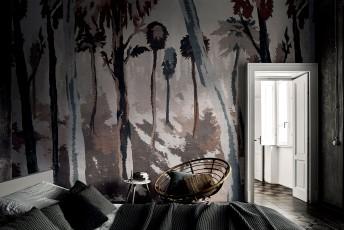 JAMIE LONDONART papier peint arbres effet tissu textué