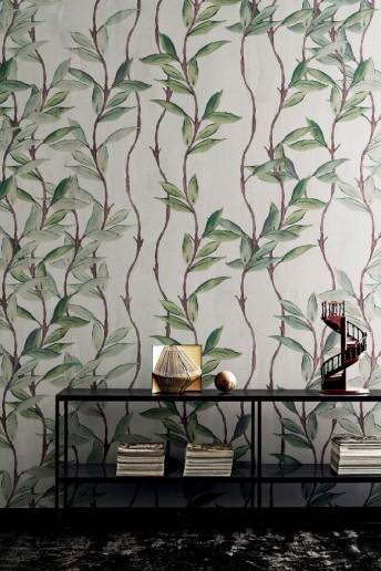 PROMISE ME tapisserie LONDONART motifs liane nature bleue ou verte