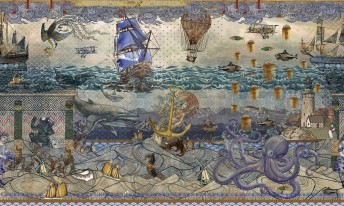 Papier peint ATLANTIS design Marcel WANDERS pour LONDONART
