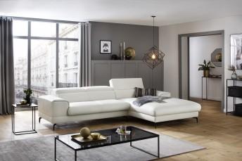 ARMOND.D, canapé angle cuir chaise longue large