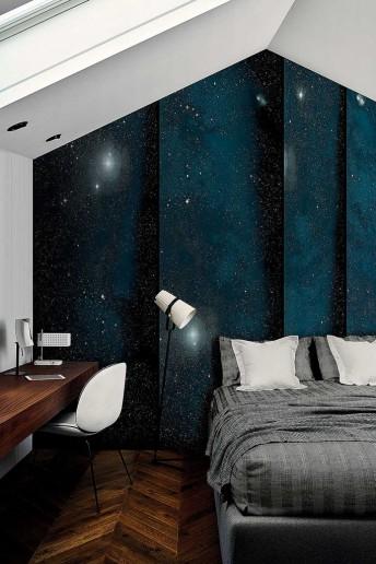 Tapisserie motif ciel cieux espace BROKEN LONDONART