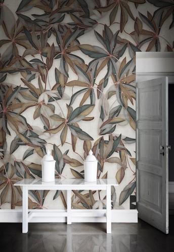 Papier peint motif feuilles sèches SIMPLY LONDONART