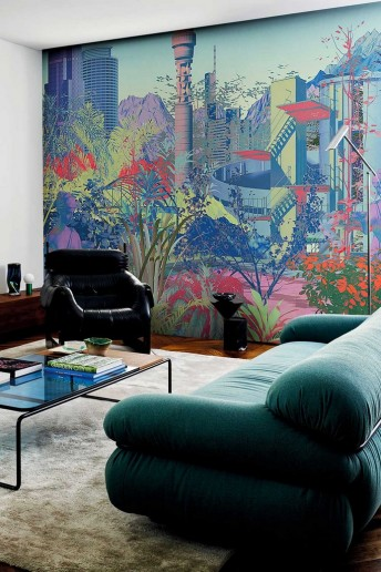 FUTUROPOLIS papier peint tapisserie LONDONART