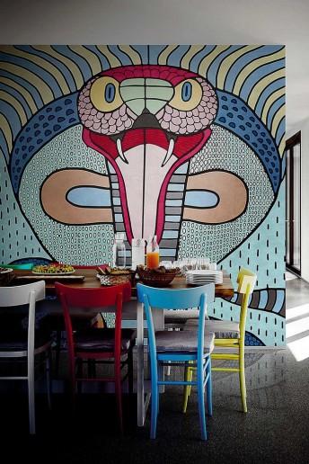 COBRA papier peint serpent LONDONART