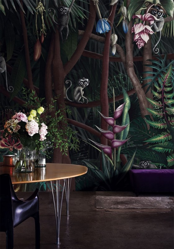 LOOKS IN THE FOREST tapisserie florale LONDONART