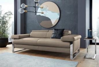 Canapé design 2 places assises motorisées en cuir DreamLINE