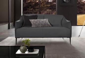 Très petit canapé 2 places ultra compact DIXIE.MISS en cuir ou tissu